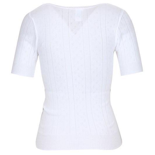 White Swan Pointelle Top Short Sleeve
