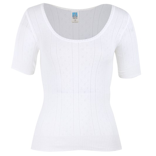 White Swan Pointelle Top Short Sleeve