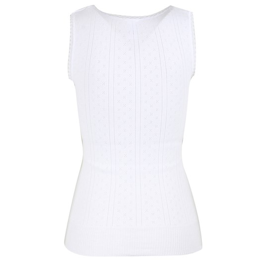 White Swan Pointelle Vest Sleeveless