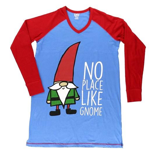 LazyOne No Place Like Gnome Nightshirt LS V Neck