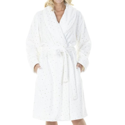 La Marquise Super Star Flannel Fleece Robe