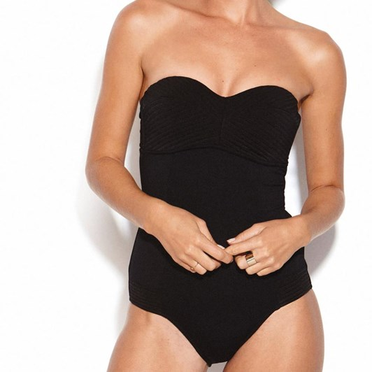 Seafolly Quilted Bandeau Maillot