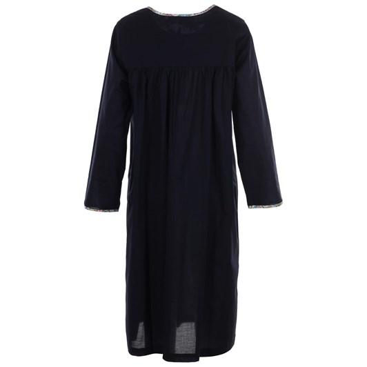 FSL Jane L/S Nightdress 3/4 Round Neck Liberty Trim