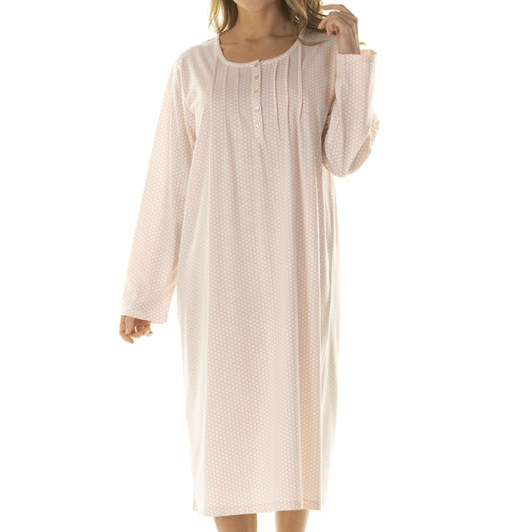 La Marquise Honeycomb Dots Long Sleeve Nightdress