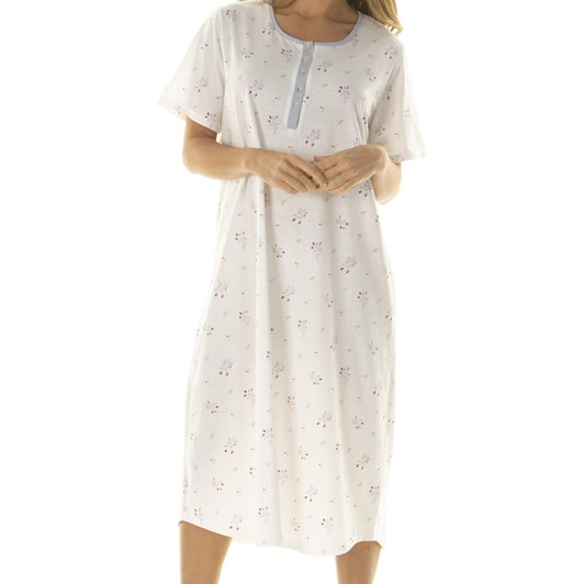 La Marquise Rosebud Bouquet Short Sleeve Nightdress