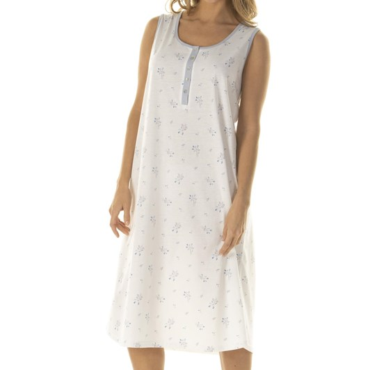 La Marquise Rosebud Bouquet Sleeveless Nightdress