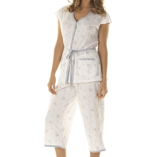 La Marquise Rosebud Bouquet Crop Pyjamas