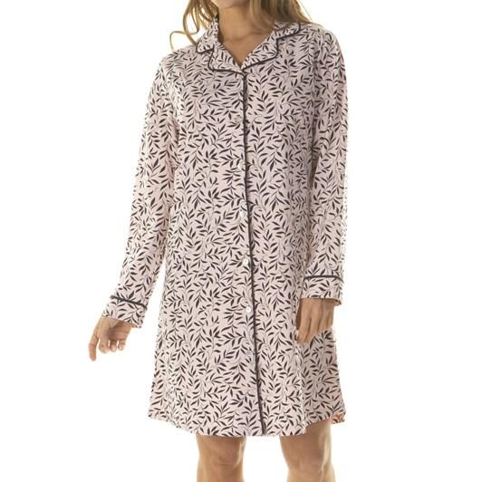 La Marquise Brigitte Long Sleeve Button Through Nightshirt