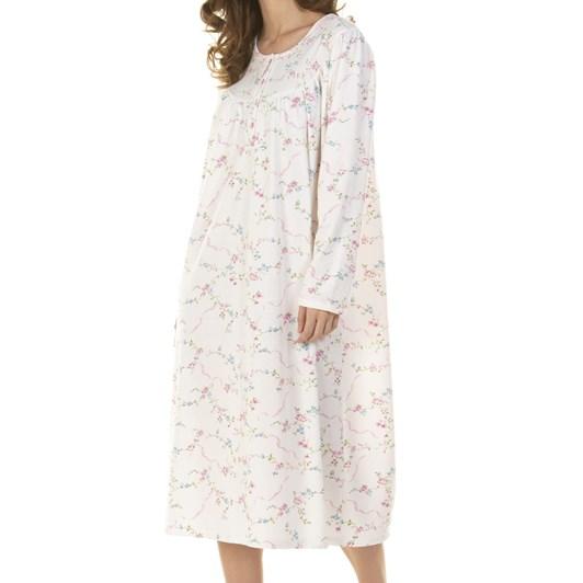 La Marquise Ribbon Cuddleknit Long Sleeve Nightdress
