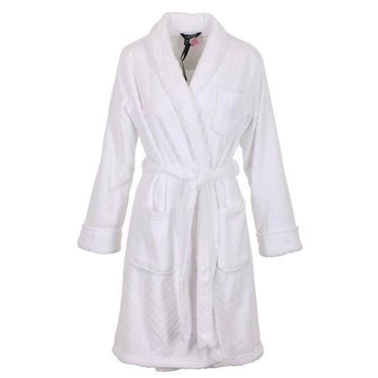 Ralph Lauren Folded Brushed Twill Notch Collar Robe