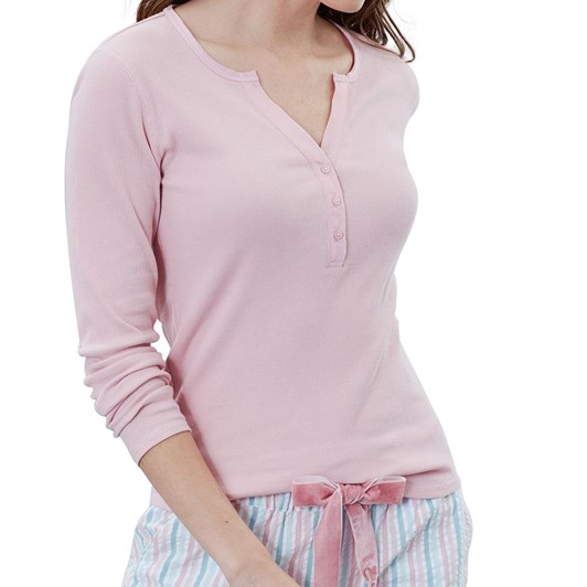 Joules Cici Long Sleeve Ribbed Jersey Top