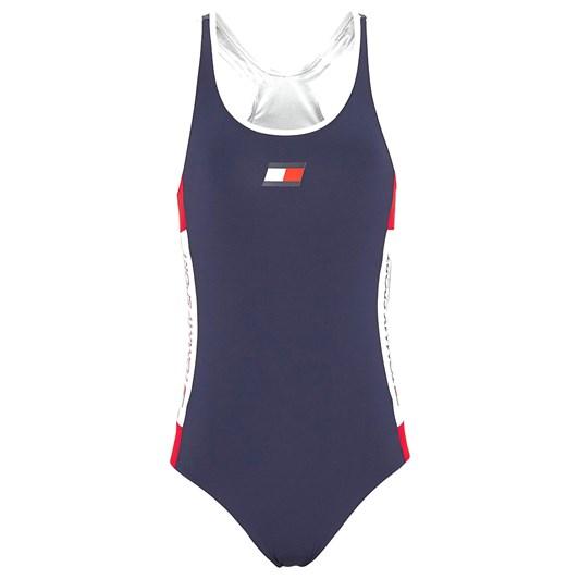 Tommy Hilfiger Flag Patch Racerback Swimsuit