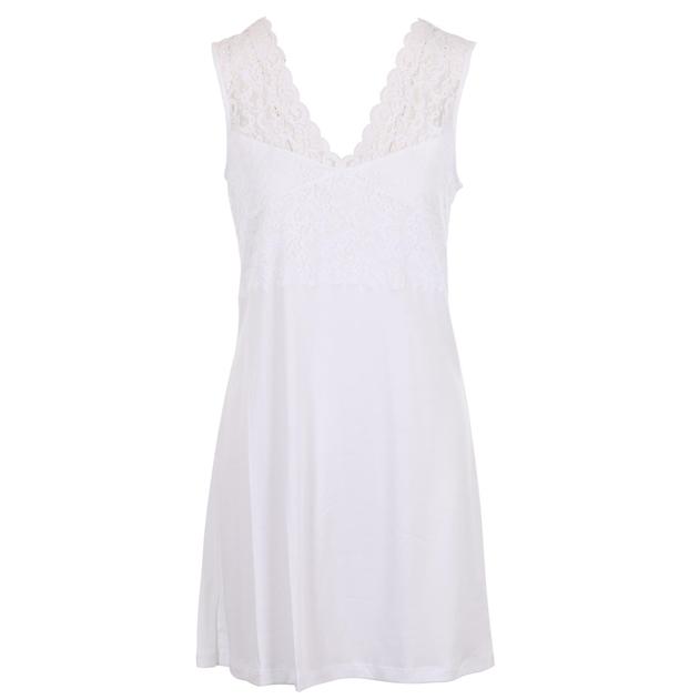 Hanro Moments Sleeveless Nightdress 90Cm - white