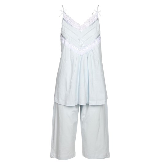 Cottonreal Super Mercerised Jersey Spag Strappy Capri Pj Set