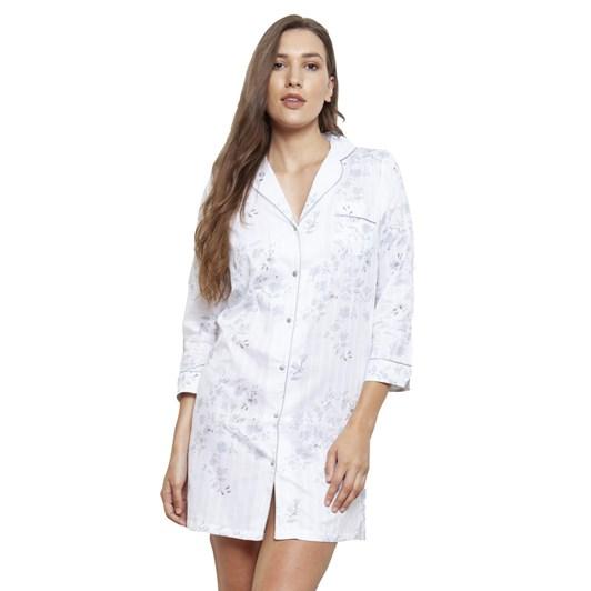 Cottonreal Antiqueflora Jaq Stripe 3/4 Slv Revere Shirts
