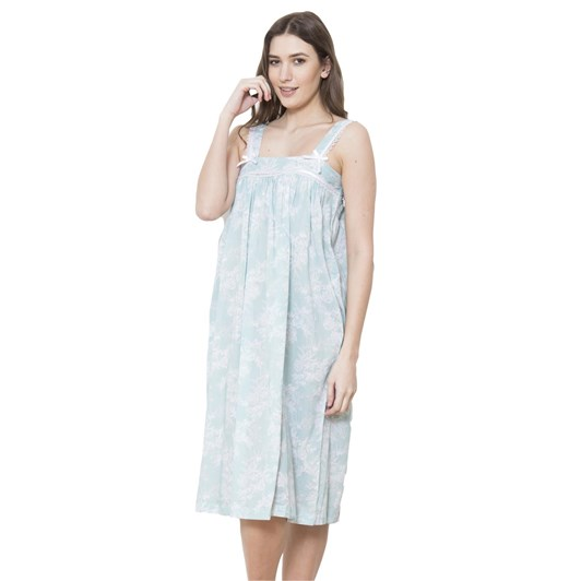 Cottonreal Deluxevoile Songbird Flora Sho-Built Strappy Nightdress