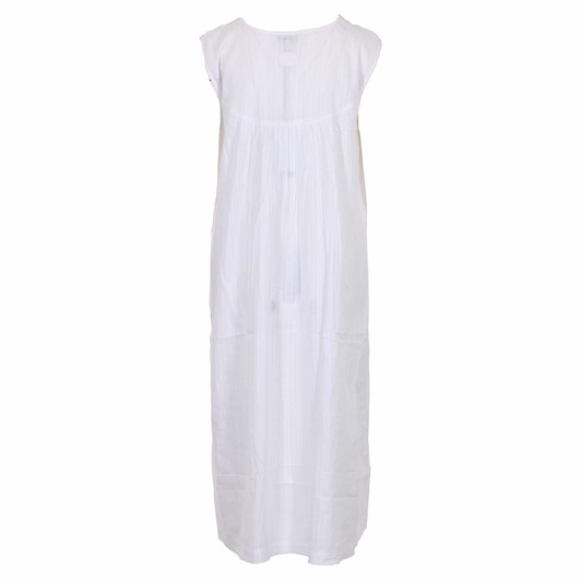 Cottonreal Deluxelawn Jaq Tramline Stripe S/Less V Nightdress