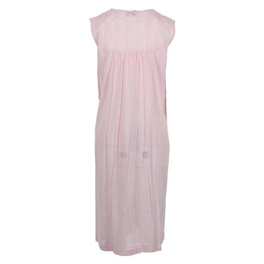 Cottonreal Supervoile Checks&Stripes S/Less Sq Nightdress