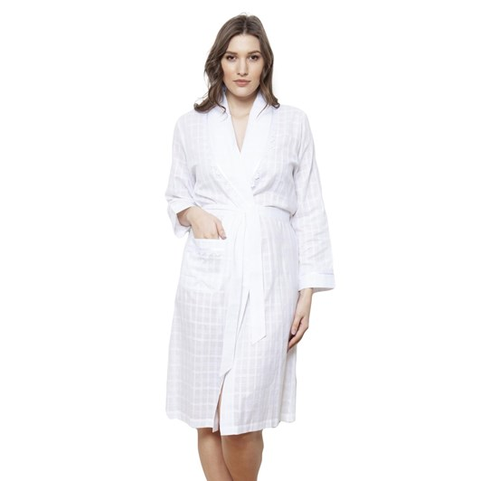 Cottonreal Deluxe Voile Jaq Checks&Stripes Grace-Shawl Wrapovers