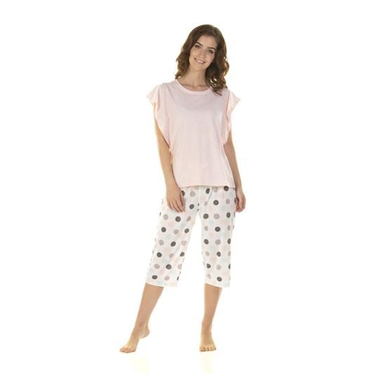 La Marquise Marshmallow Dots Flute Sleeve Pyjama