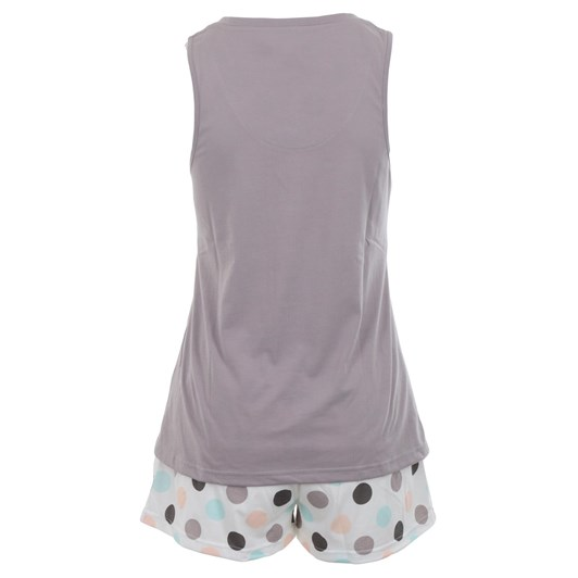 La Marquise Marshmallow Dots Sleeveless Short Set