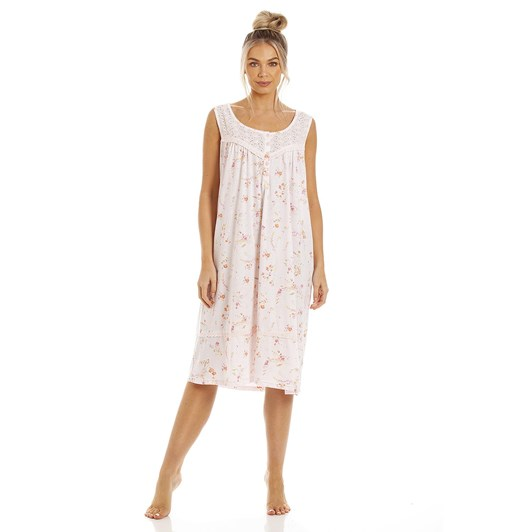La Marquise Pretty In Peach Sleeveless Nightdress