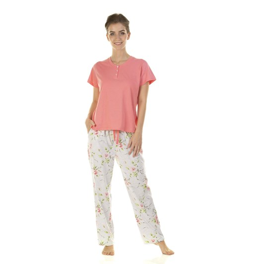 La Marquise English Rose Short Sleeve Pyjama