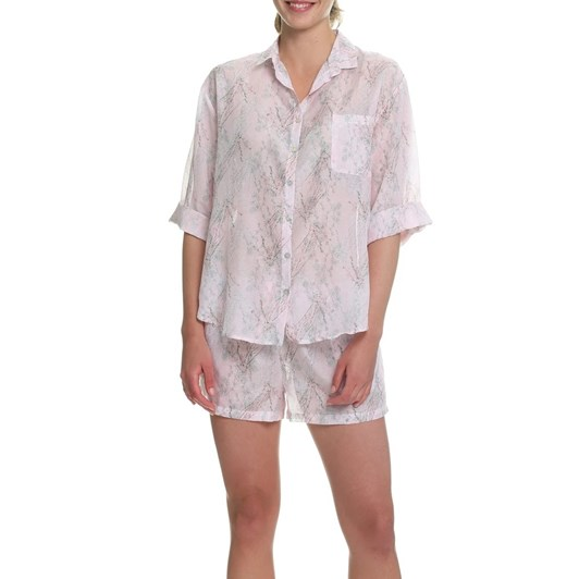 Papinelle Falling Blossom Pink Boxer Pj