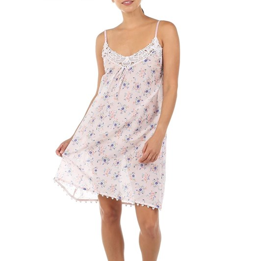 Papinelle Iggy Pink Lace Front Nightie