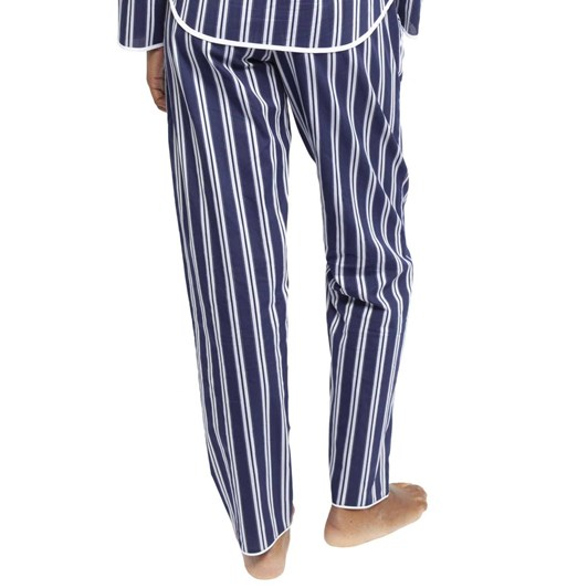 Cyberjammies Heather Sateen Stripe Top And Pant Pyjama Set