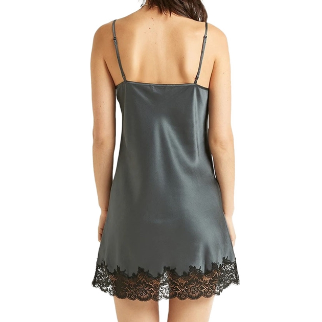 Ginia Silk Chemise - india ink
