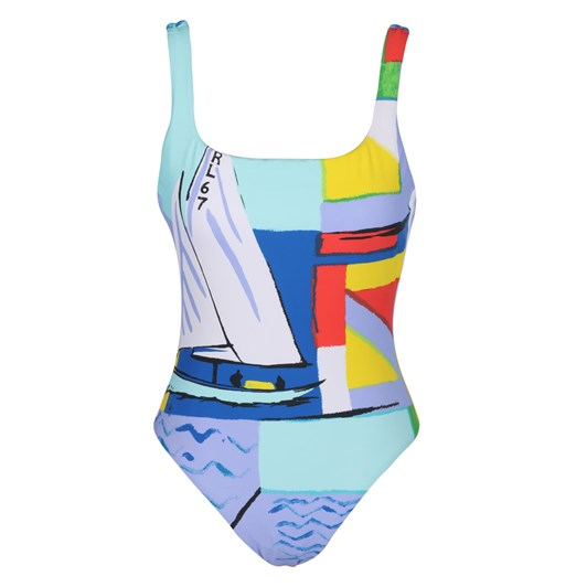 Lauren Ralph Lauren One Shoulder Swimsuit