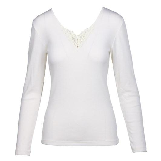 Baselayer Pure Wool Long Sleeve Lace Motif