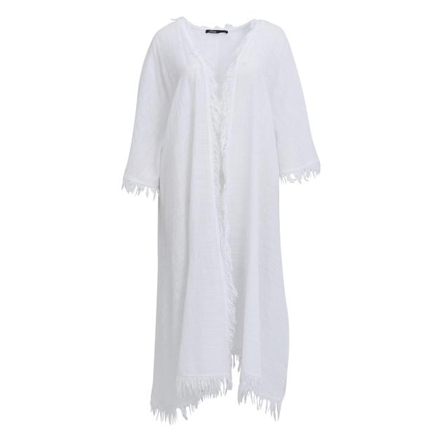 Devotion Thalia Short Kimono - white