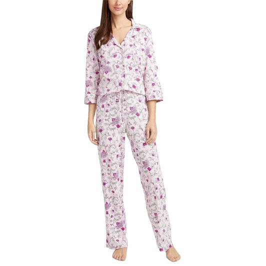 Lauren Ralph Lauren  3/4 Sleeve Notch Collar Pajama