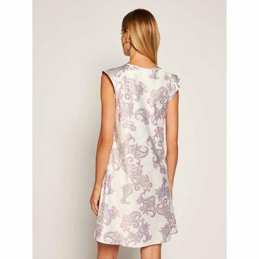 Lauren Ralph Lauren  Satin Flutter Sleeve Gown