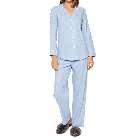 Lauren Ralph Lauren  Sateen Notch Collar Pajama Set
