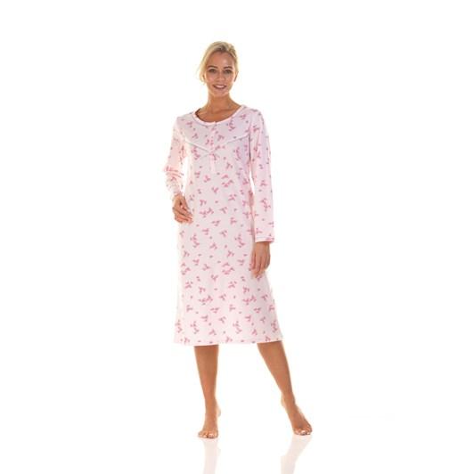 La Marquise Pink Blossom Long Sleeve Nightdress
