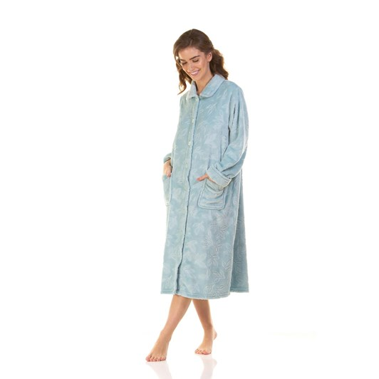 La Marquise Comfy Leaves Button Through Robe