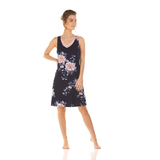 La Marquise Japanese Garden Sleeveless Nightdress