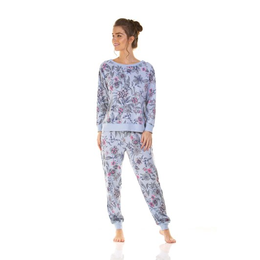 La Marquise Neon Floral Long Sleeve Pyjama