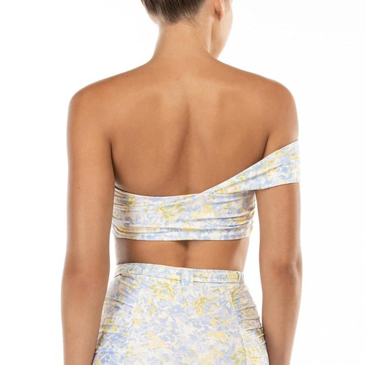 Peony Ruched One Shoulder Crop