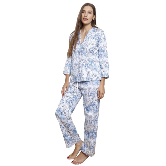 Cottonreal Mini Spanish Tile L/Slv Revere Pj Set