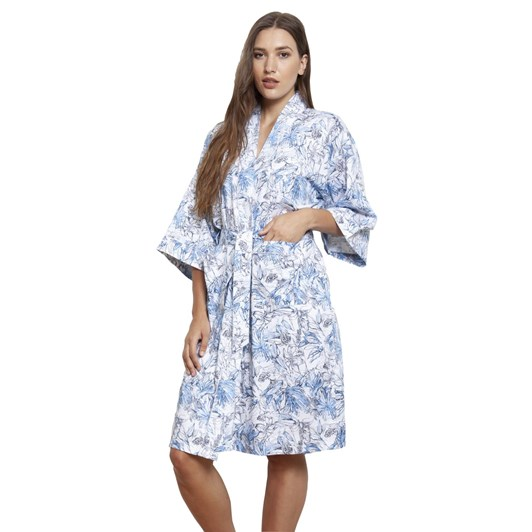 Cottonreal Mini Spanish Tile Classic Shawl Robe