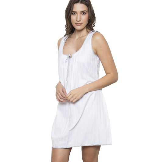 Cottonreal Superfine Shadow Stripe Sweetheart Chemise