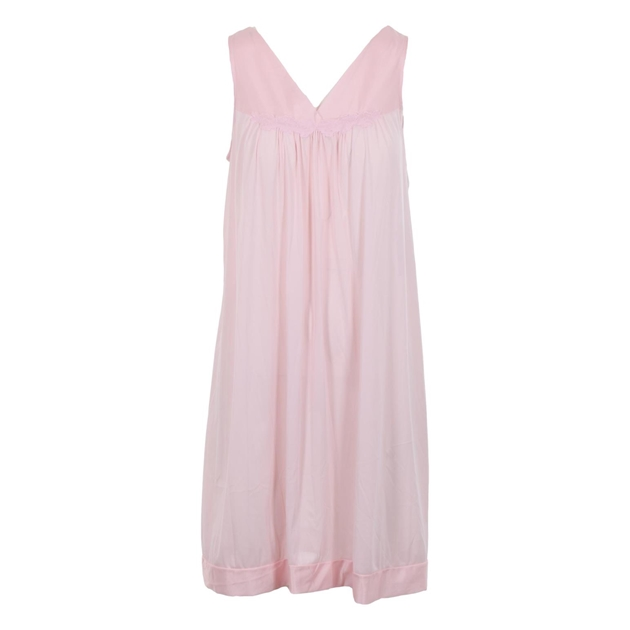 Exquisite Sleeveless Short Nighty - pink champagne