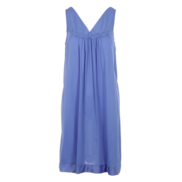 Exquisite Sleeveless Short Nighty - victory violet