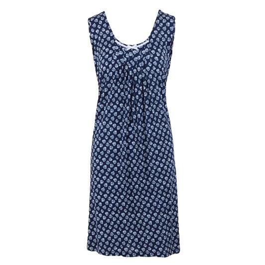 Yuu Pleated Indigo Dress