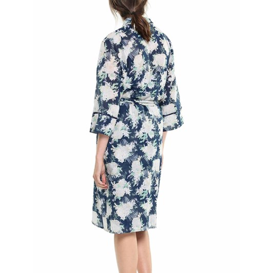 Papinelle Gess Floral Navy Robe