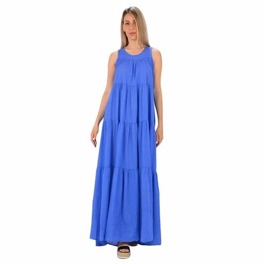 Devotion Barcelona Long Dress With Ruffle